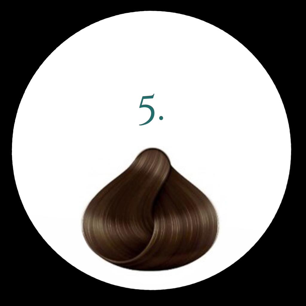 5. Brun Hårfarve 100ml