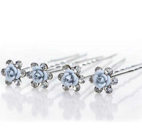 Hairpins Blue Roses 2pk