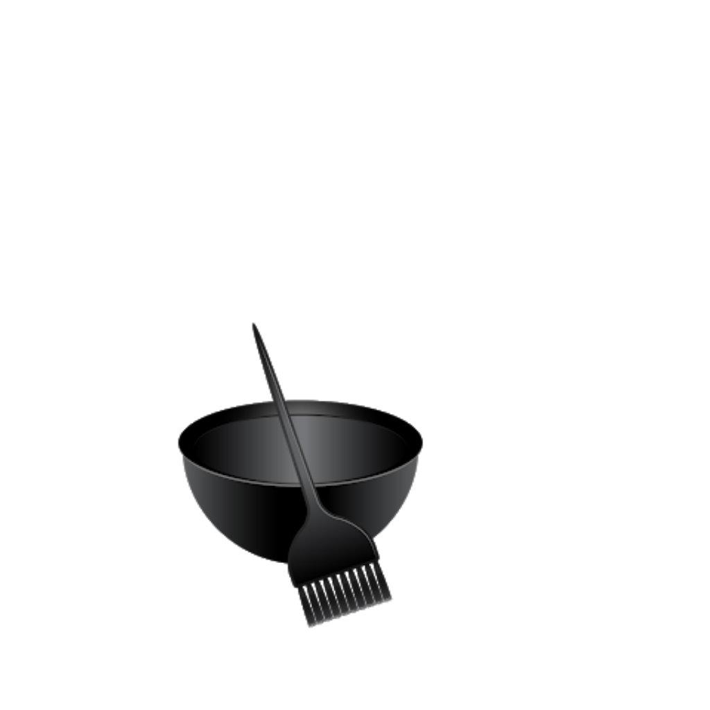 Hårfarve skål og Pensel