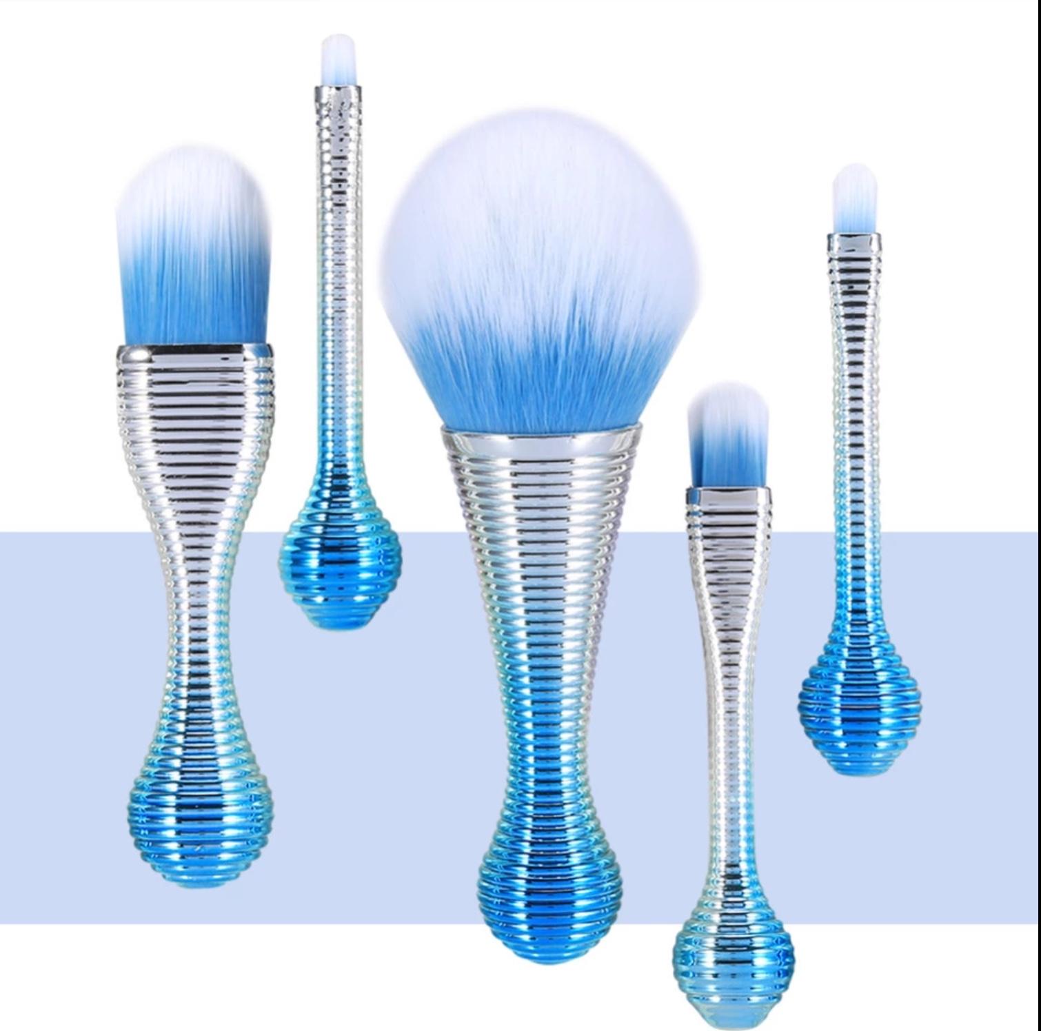 MakeUp Pensler Blue 5 stk.
