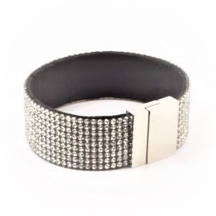 Armbånd krystaller og magnet lås