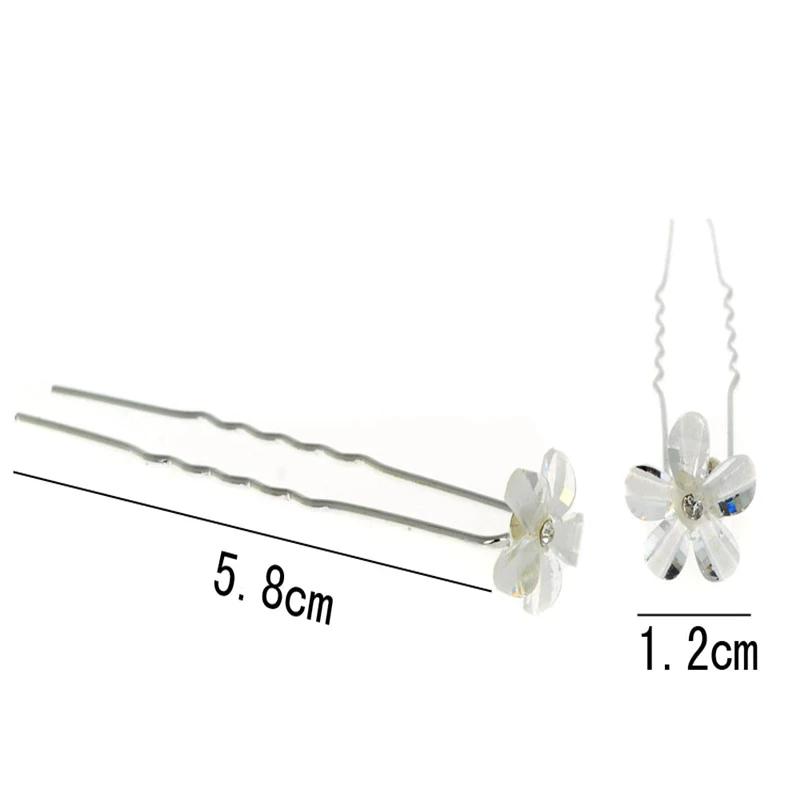 Hairpins Hvid Blomster 2pk