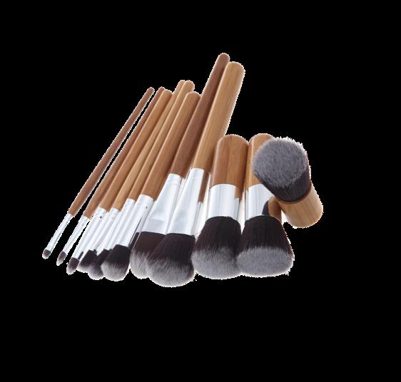 Makeup-Pensler Bambus  10 Pensler