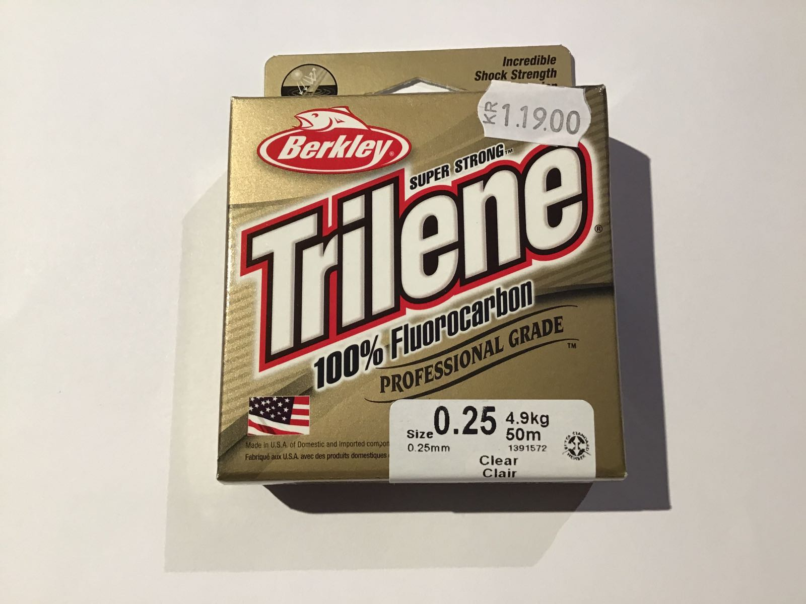 Trilene 100% fluorocarbon 0,25 50m clearing