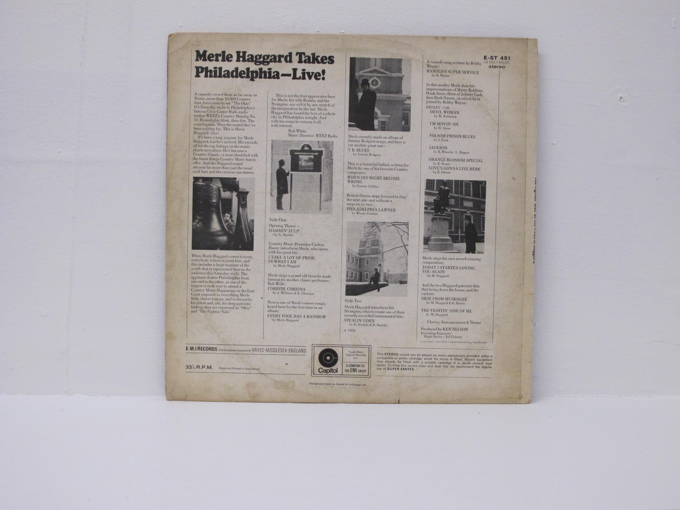 Merle Haggard - Takes Philadelphia LIVE