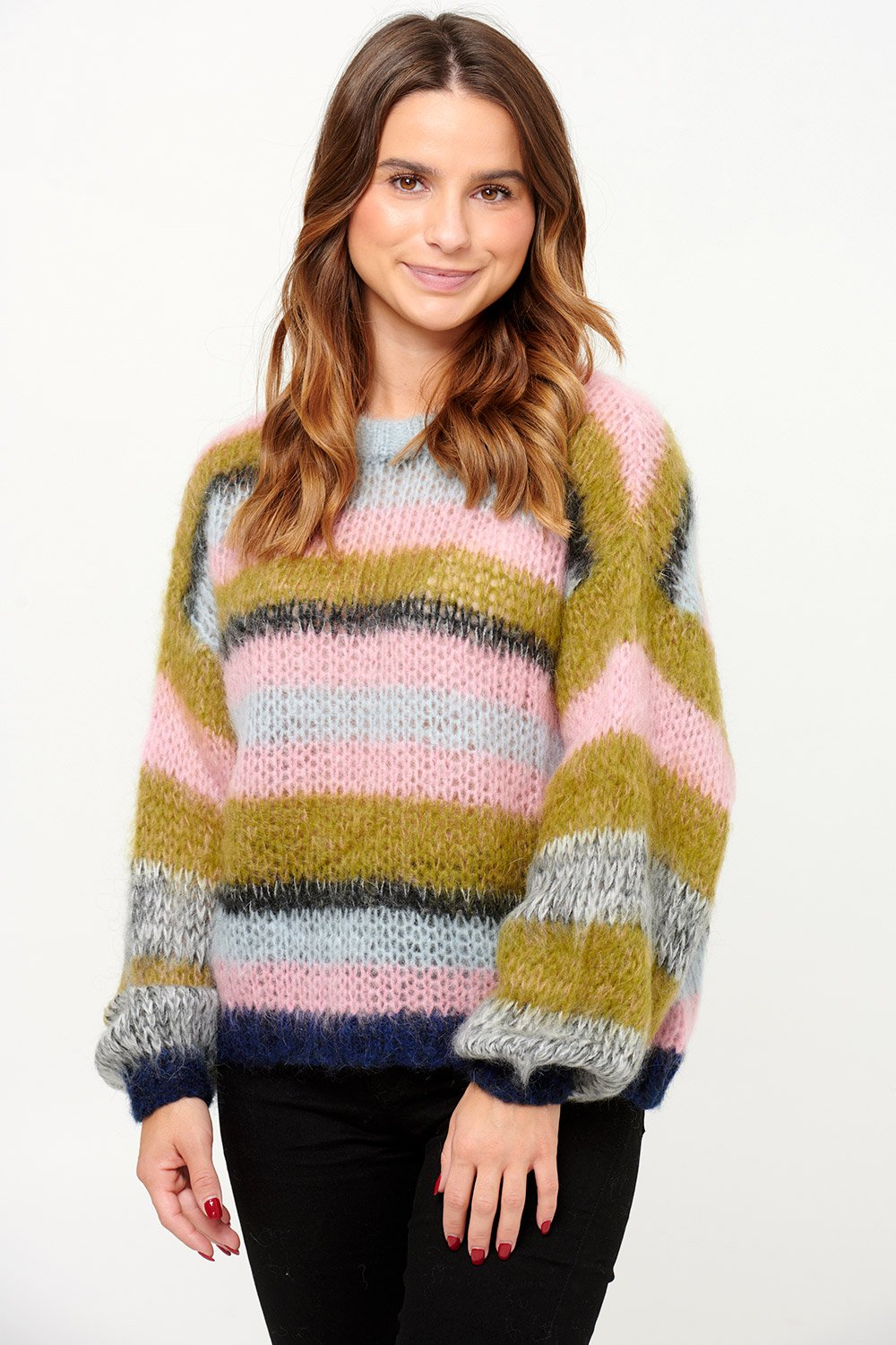 Noella Delta Knit Blue/Rose
