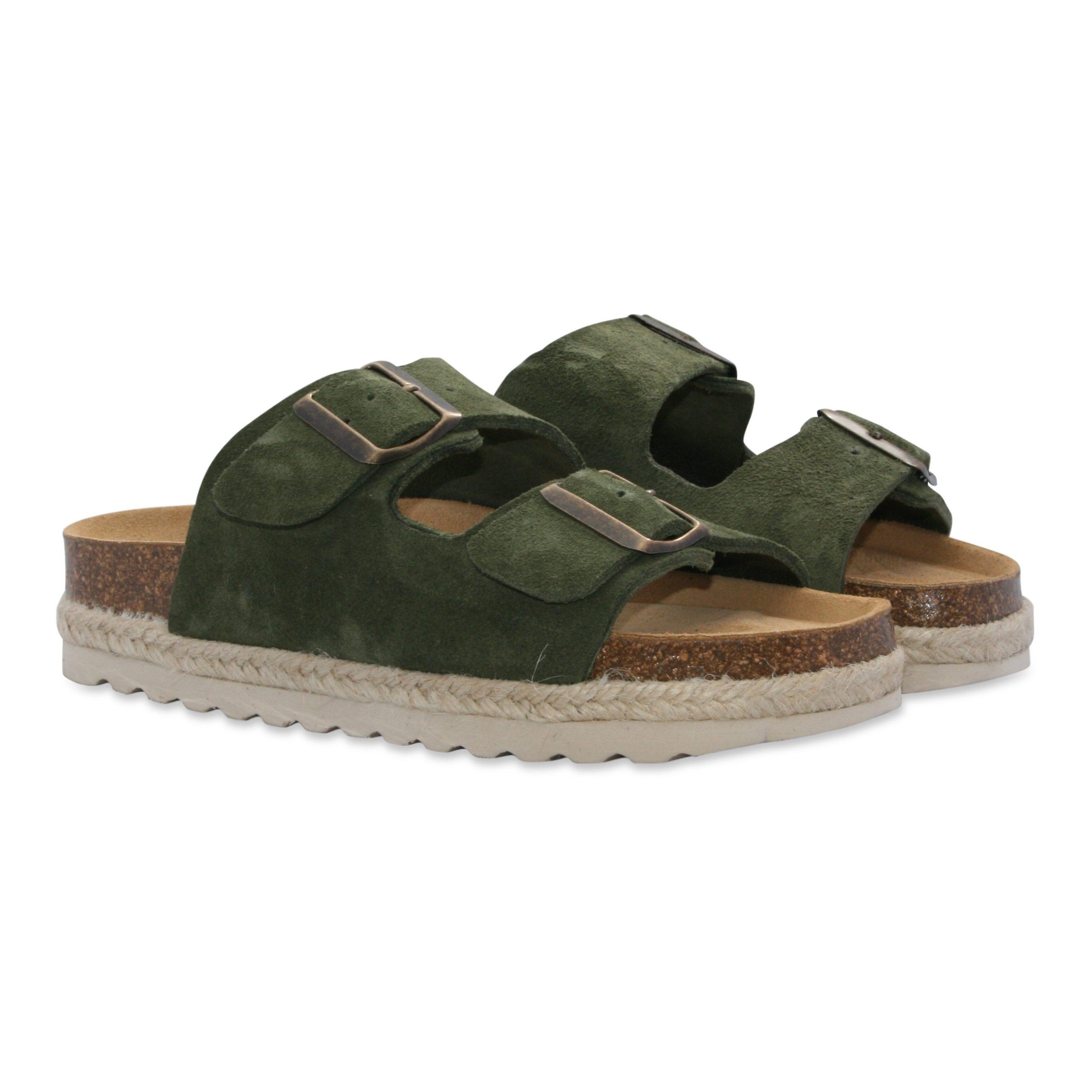 Amalie Dark Green sandal fra Original Sin Oslo
