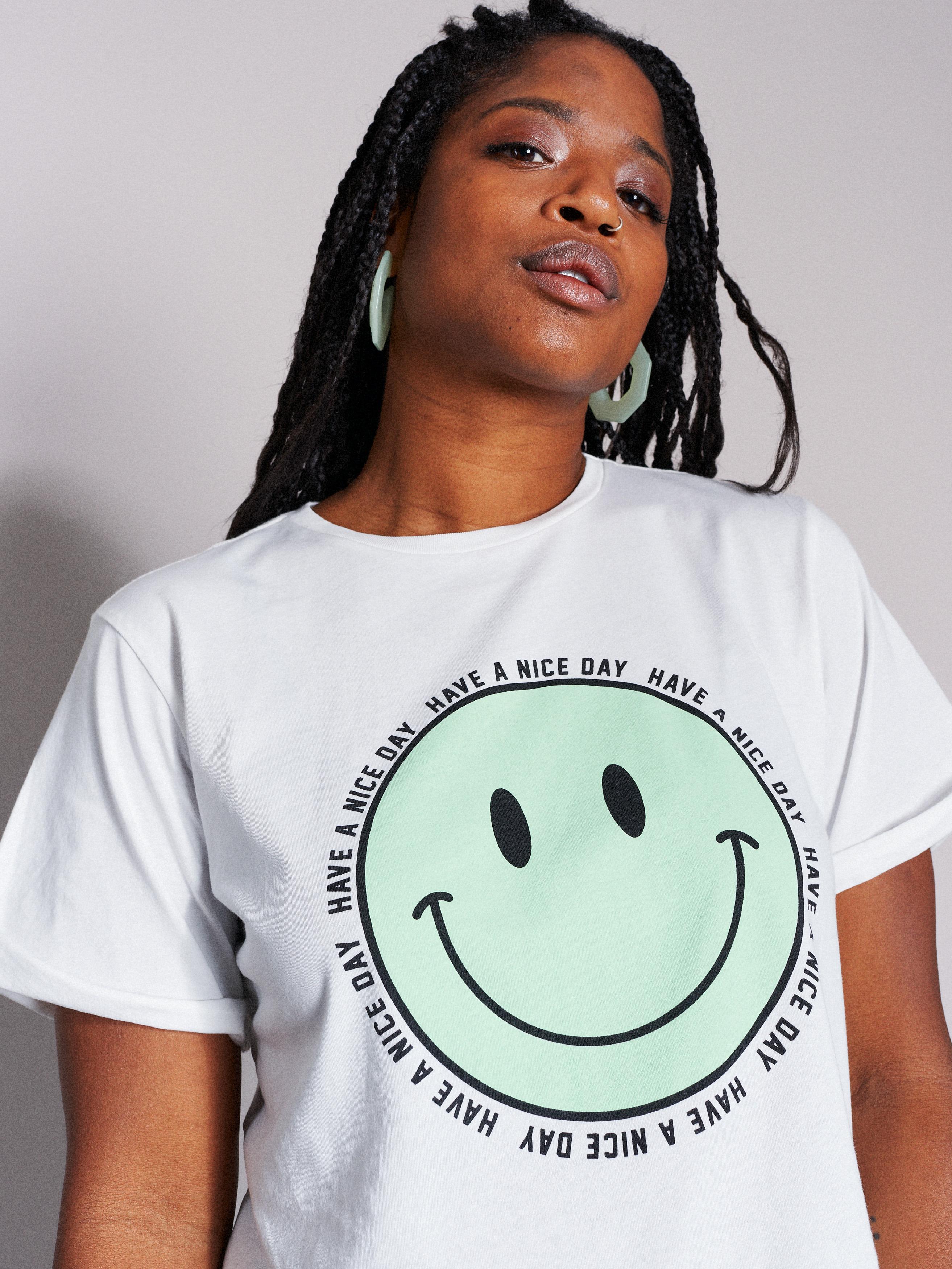 Catwalk Junkie Happy Face T-skjorte