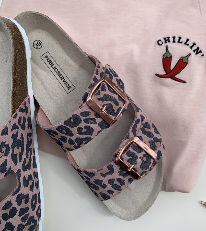 Ambra Leo rosa sandal