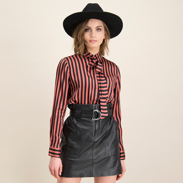 Bluse Retro Stripe