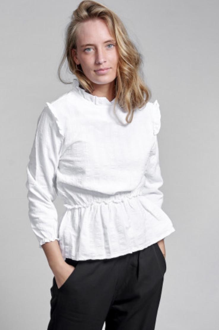 Noella Rome bluse hvit