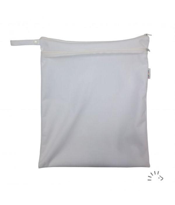 Windelsack mit Netztasche - Weiß - PoPoLiNi