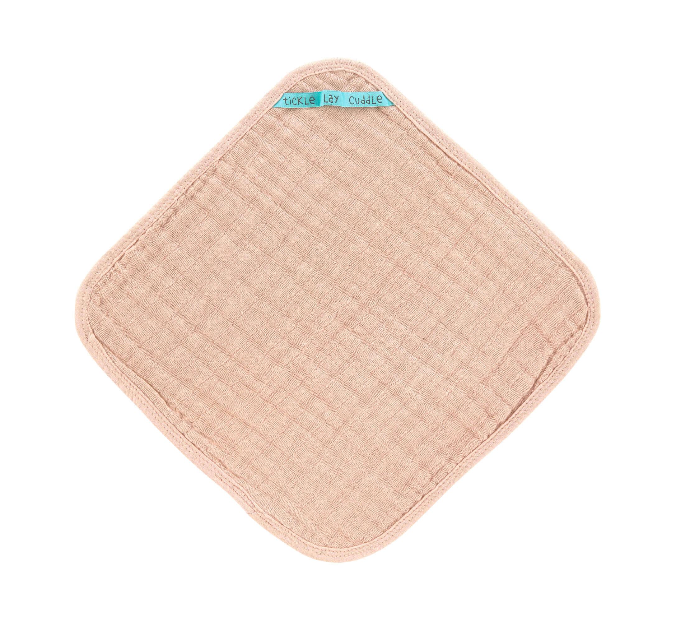 Waschlappen Muslin 3er-Set Light Pink - Lässig