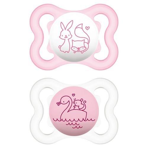 Schnuller Air Tiere pink - MAM