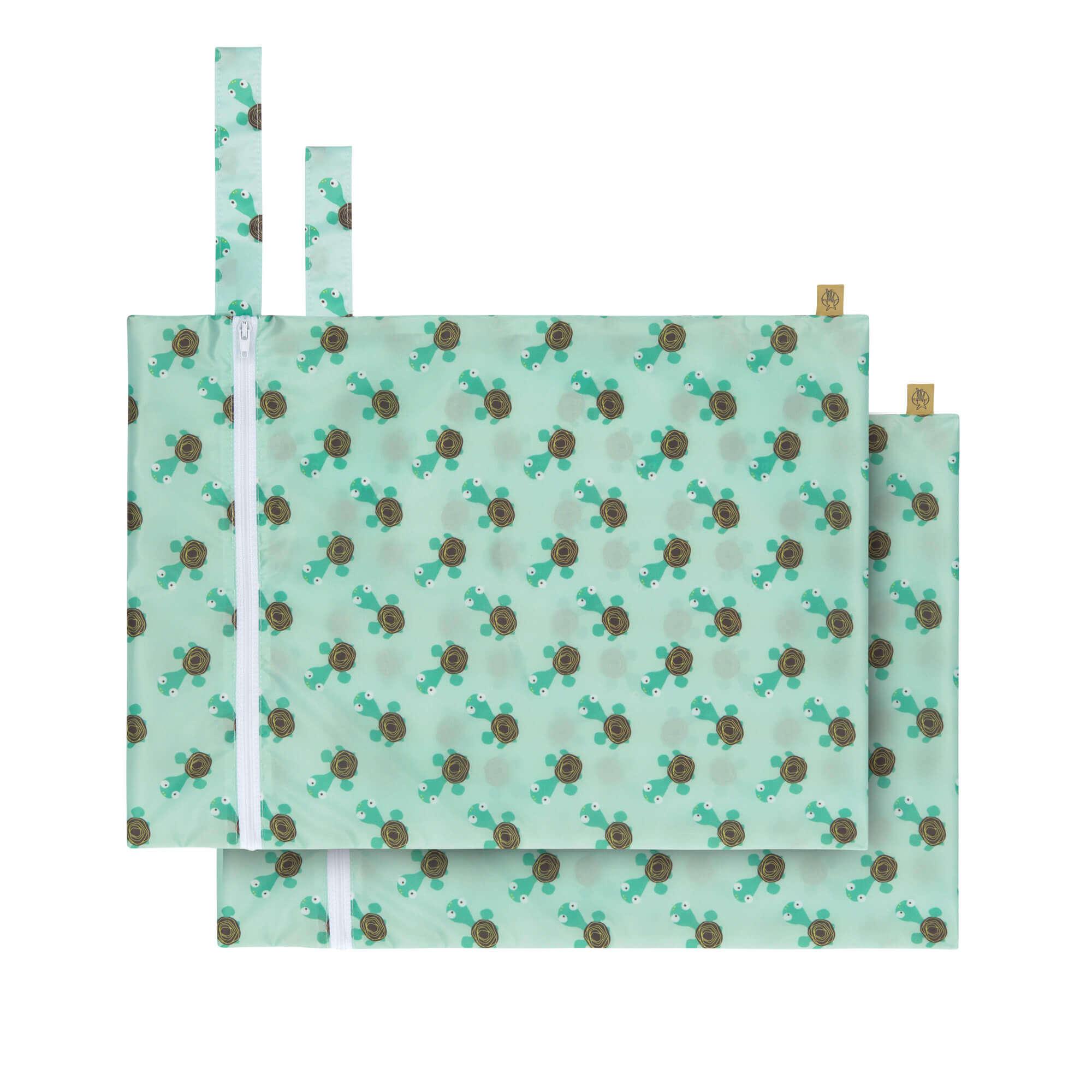 Nasstasche / Wet Bag (2 Stk) - Wildlife Turtle - Lässig