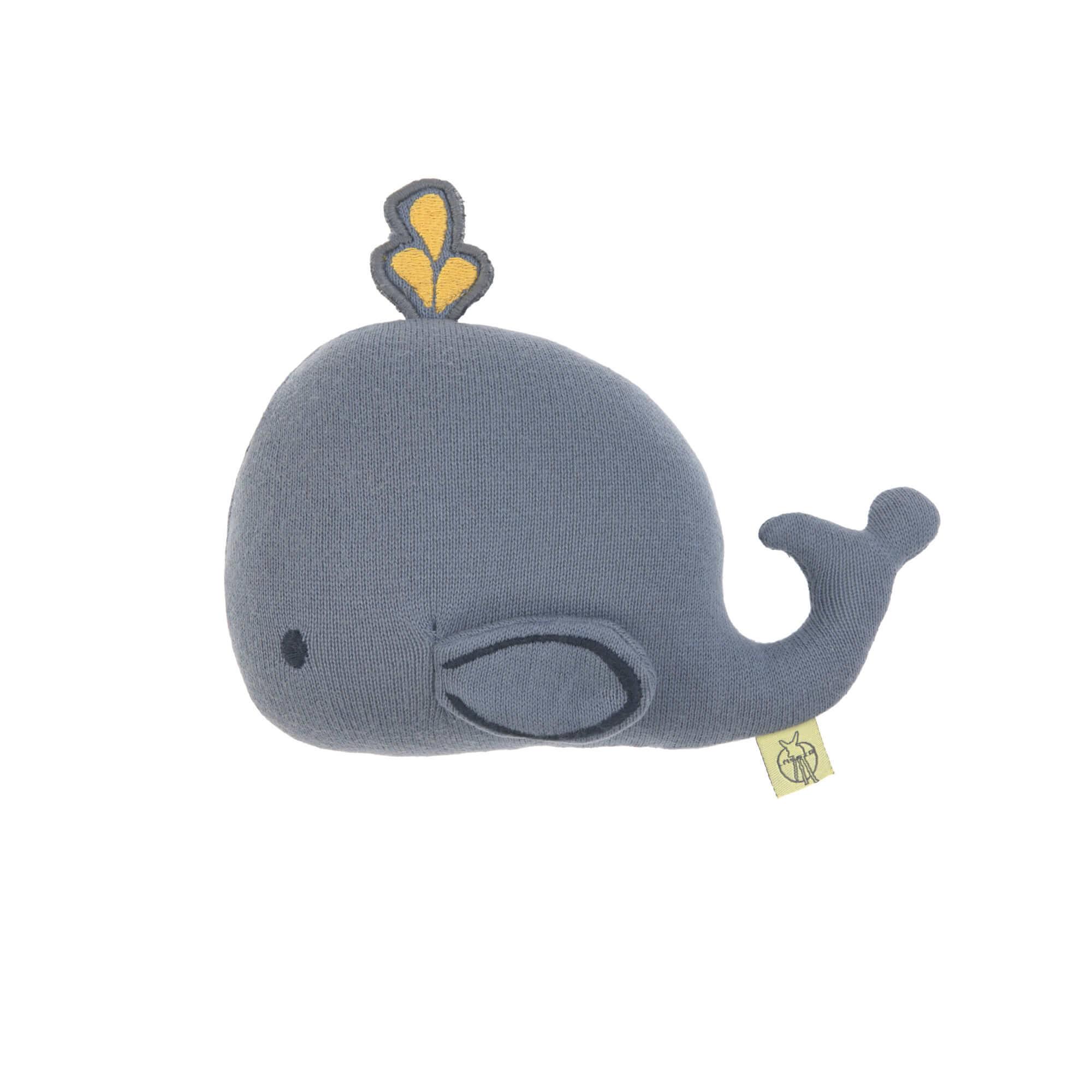 Kuscheltier mit Rassel & Knisterpapier - Little Water Whale - Lässig