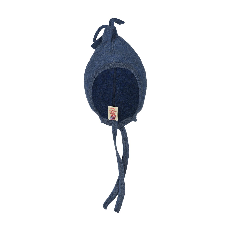 Baby-Mütze - Blau Melange - Engel Natur