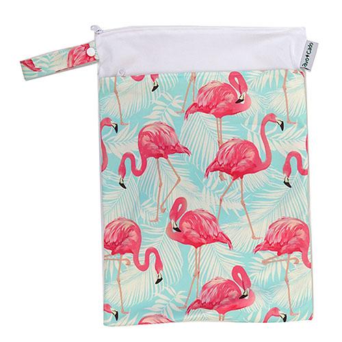 Nasstasche / Wet Bag (M) mit Trockenfach - Flamingos - Avo & Cado