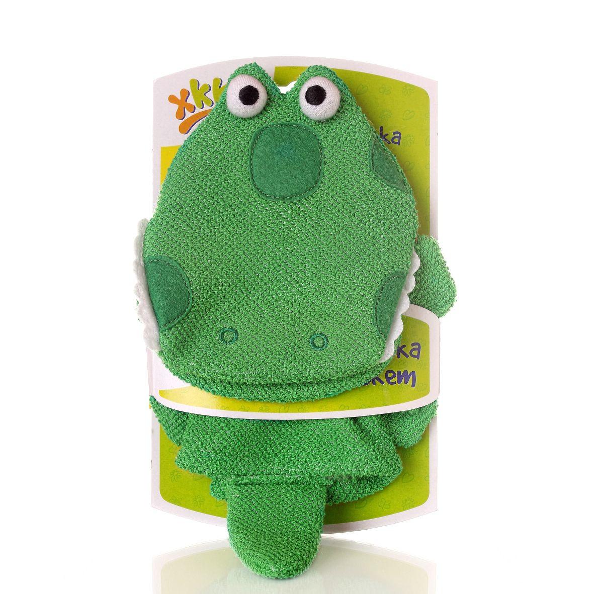 Waschlappen mit Handpuppe Krokodil - XKKO