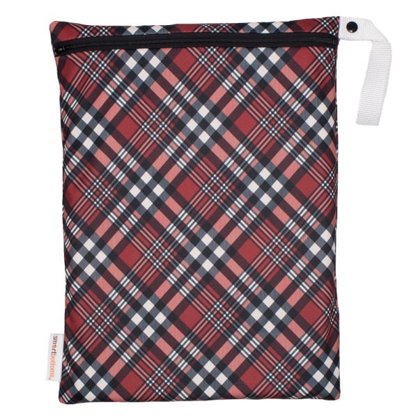 On the Go Wet Bag - Holiday Plaid - Smart Bottoms