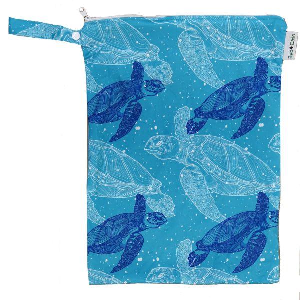 Nasstasche / Wet Bag (M) - Schildkröten - Avo & Cado