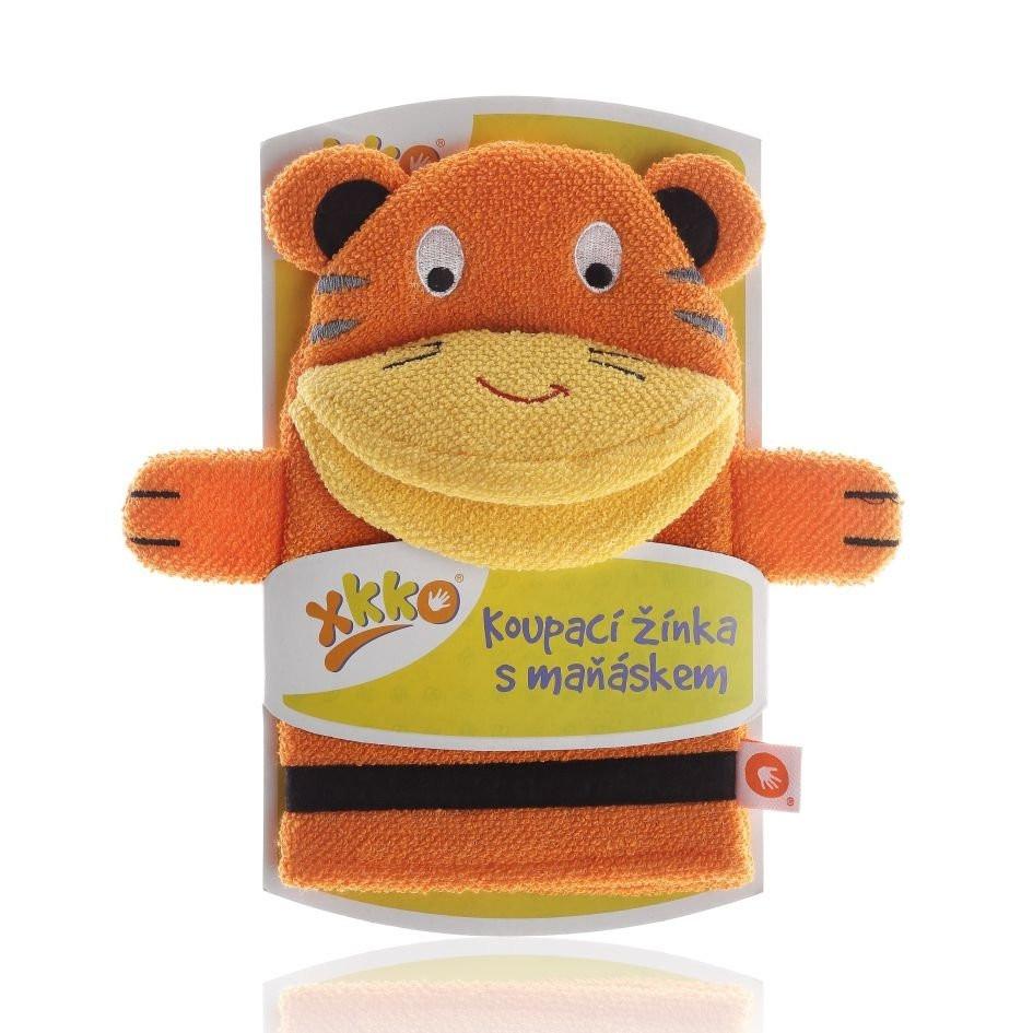Waschlappen mit Handpuppe Tiger - XKKO