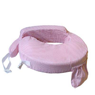 Amerikanisches Stillkissen - rosa-weiß gestreift - My Brest Friend
