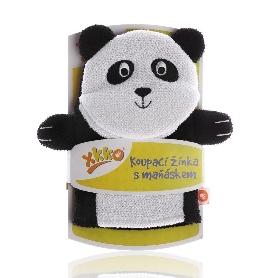 Waschlappen mit Handpuppe Panda - XKKO