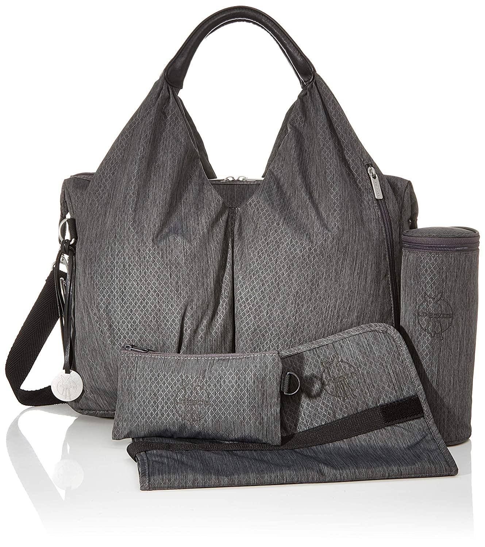 Green Label Neckline Bag Spin Dye Black Melange - Lässig
