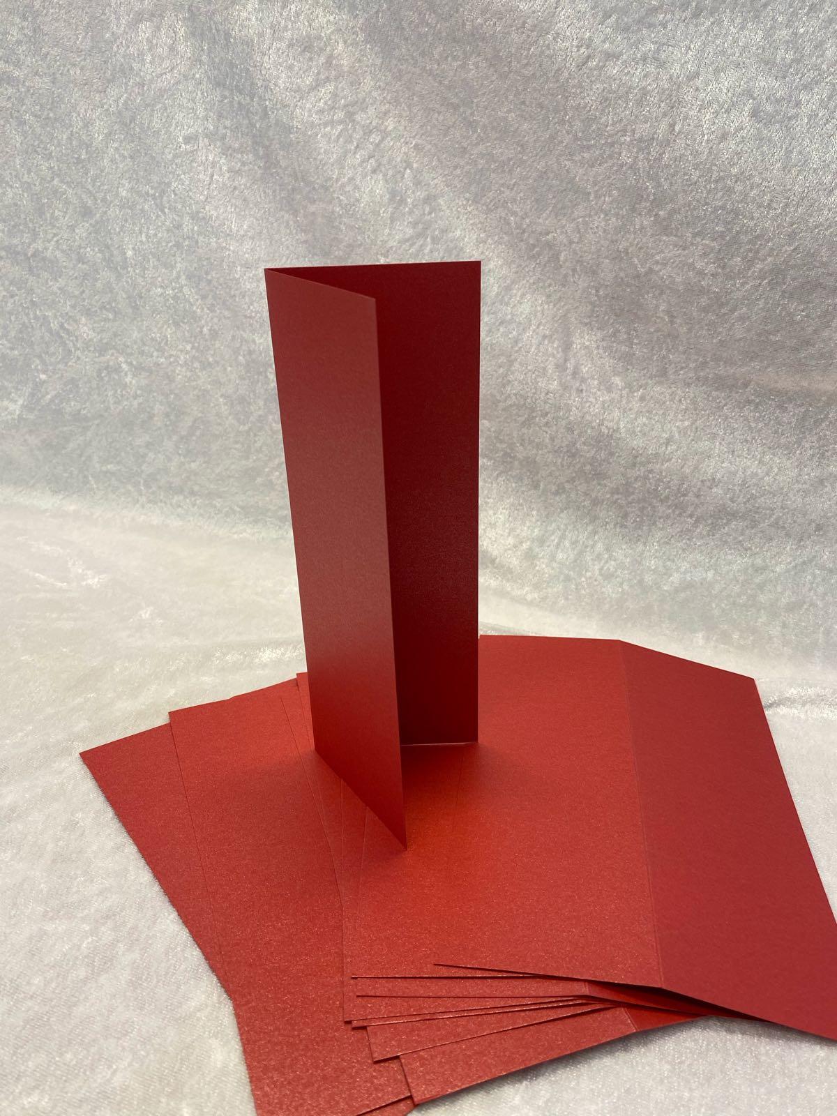 Slimcard base shimmer rød. TILBUD 10 stk. kun kr 25,-