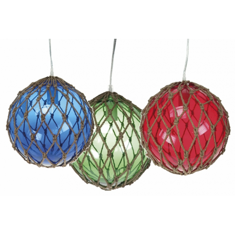 Glass Buoy Hanging Lamp 20cm Green SALE (£39.95)