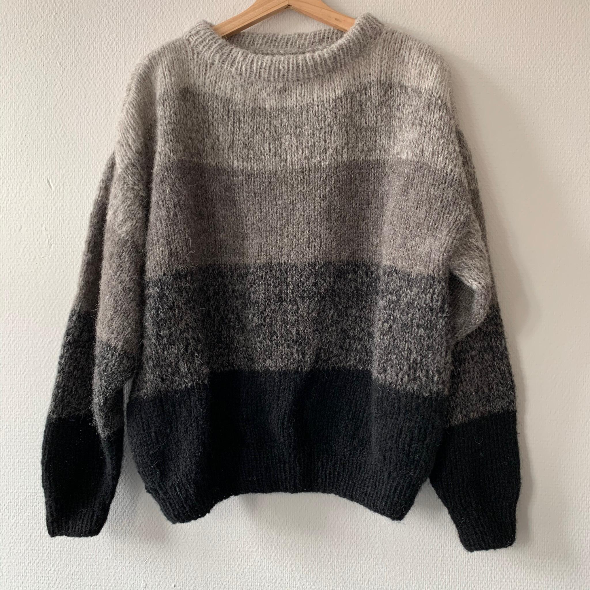 Stripes grå/sort
