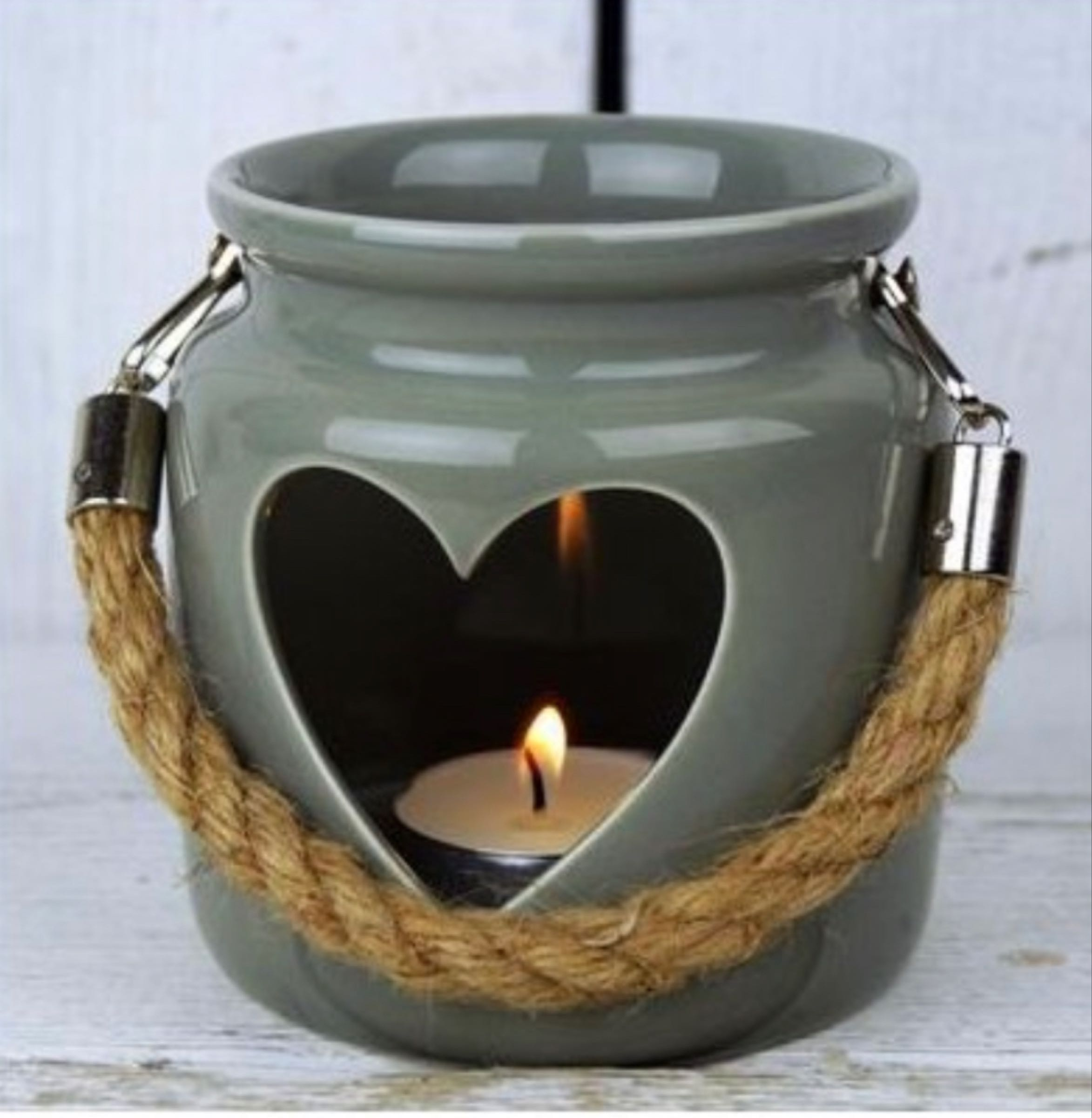 Porcelain Tealight Holder 10cm x8.5cm