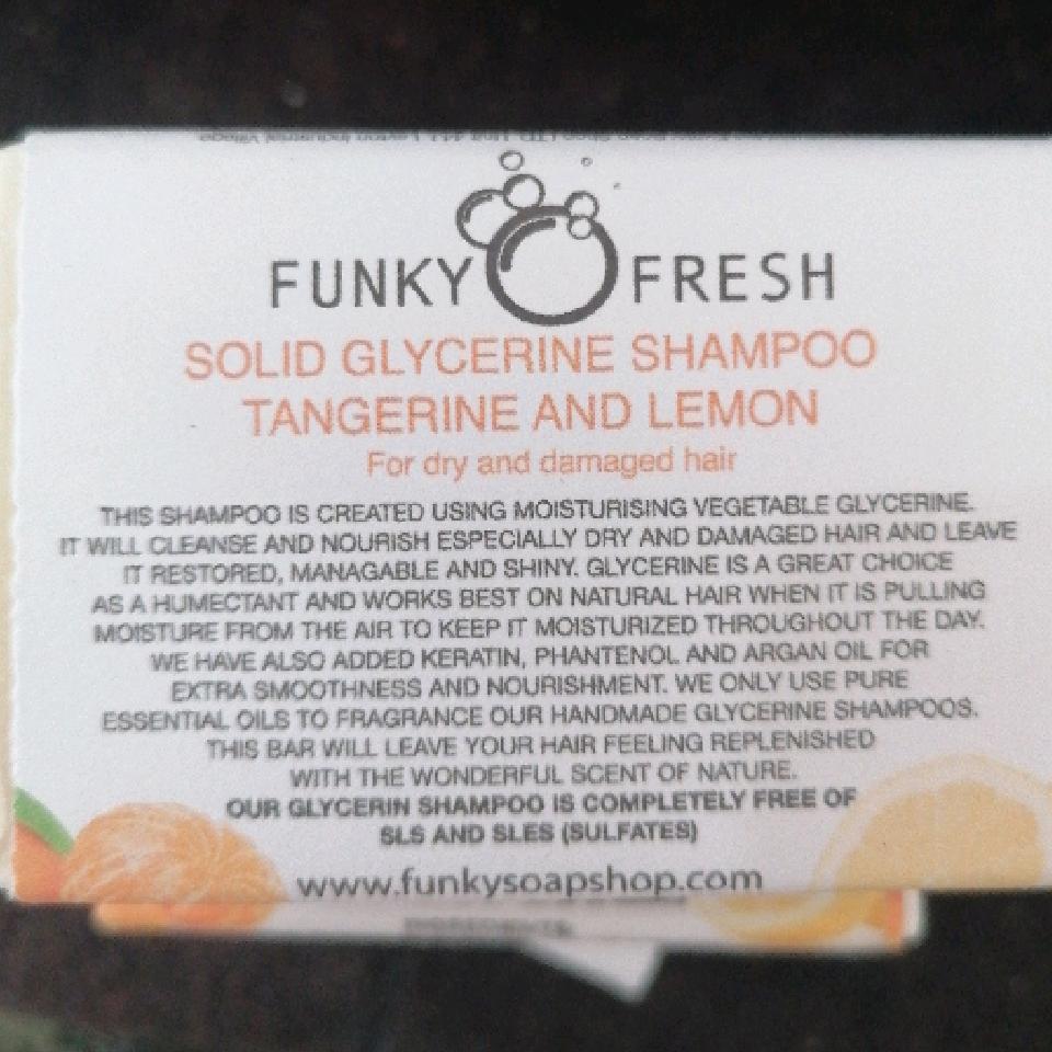 Funky Fresh Tangerine & Lemon glycerin shampoo 95g