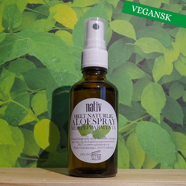 Helt naturlig aloespray med pepparmynta