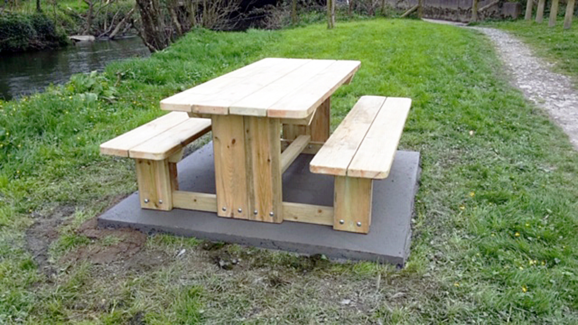 Walk Through Picnic Bench