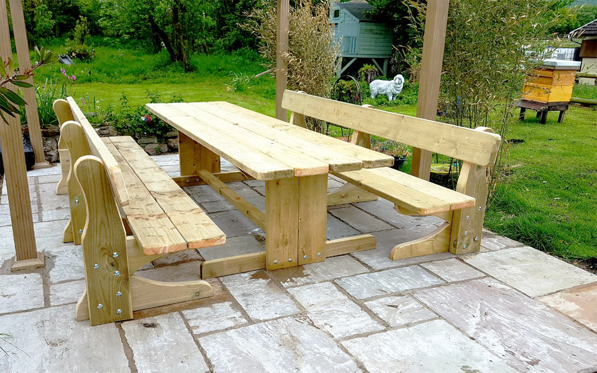 Family Feast Table with Bench Seats