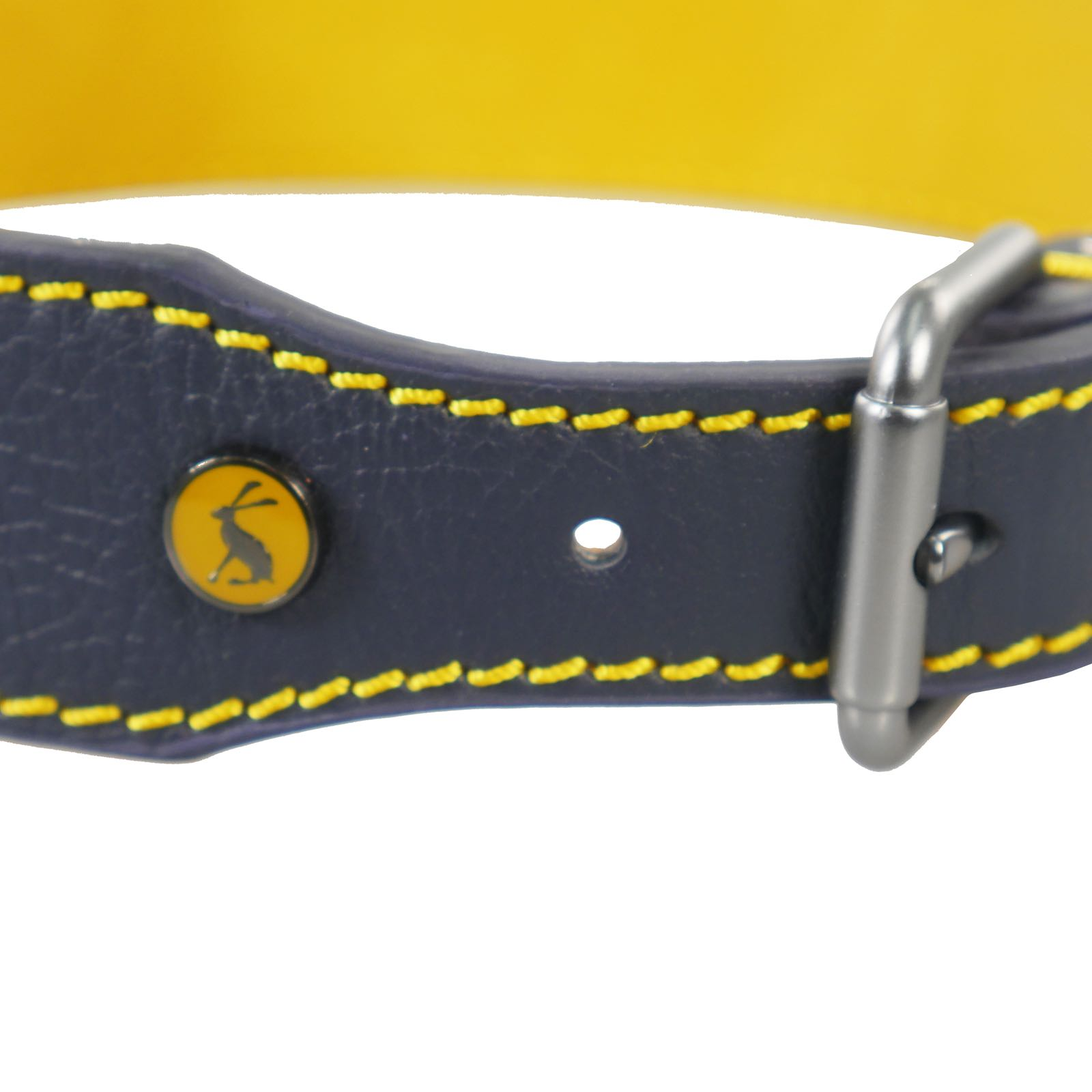 Joules Navy Leather Dog Collar X Large 56cm-66cm Golden Retrievers/Rottweilers /settersWas £14