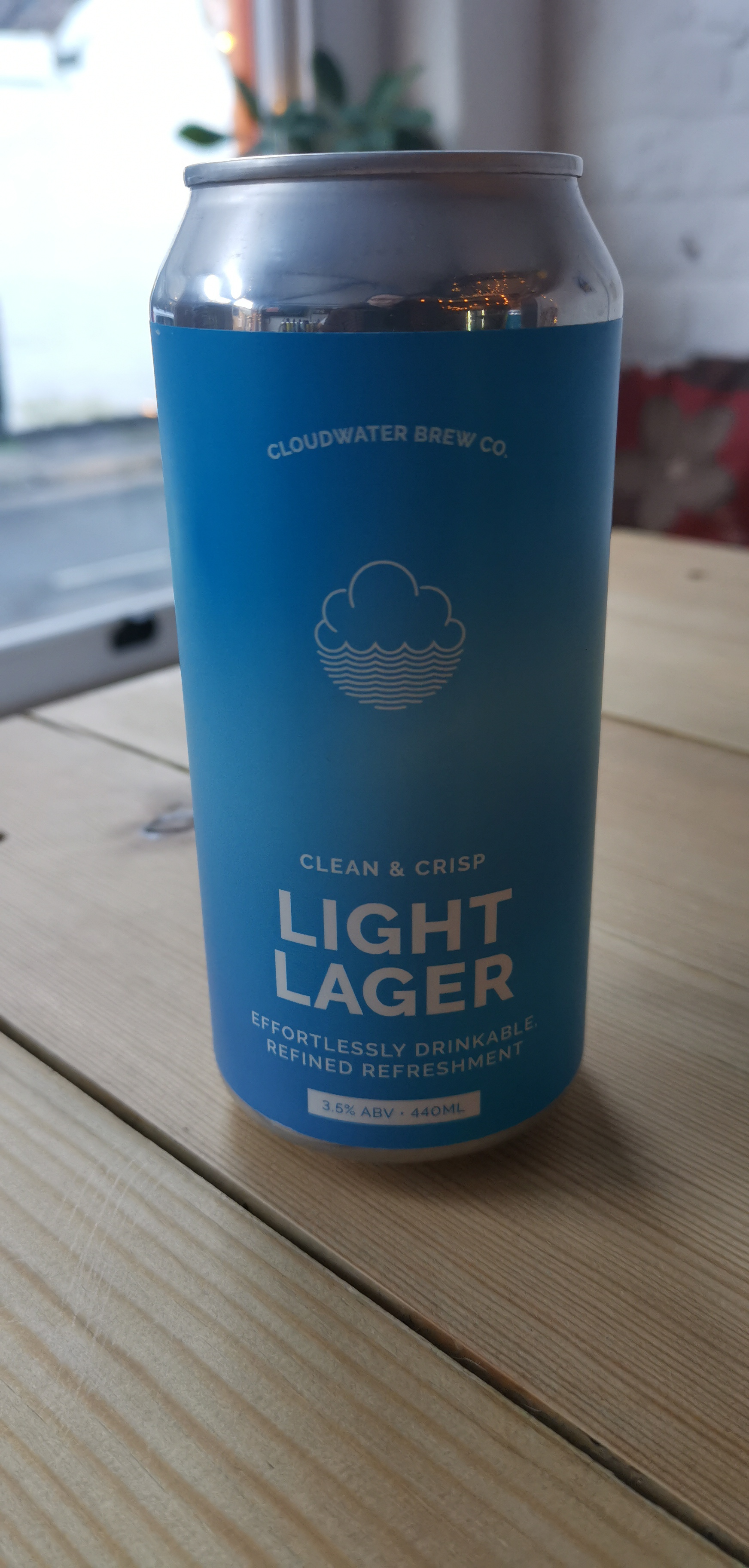 Cloudwater Brew Co. - Light Lager (3.5% Clean & Crisp Lager)