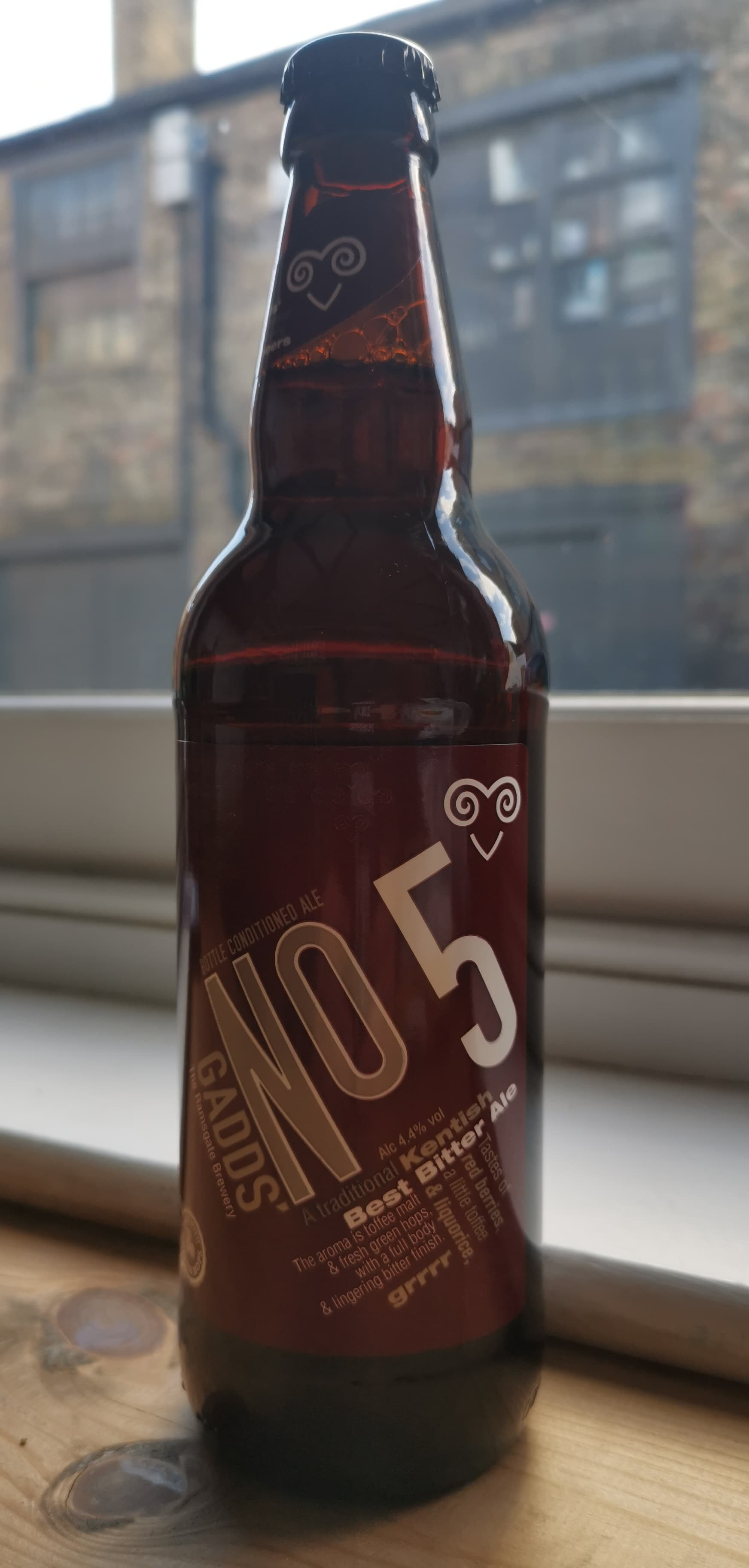 Gadds' - No 5 (4.4% Best Bitter Ale) (The Ramsgate Brewery)