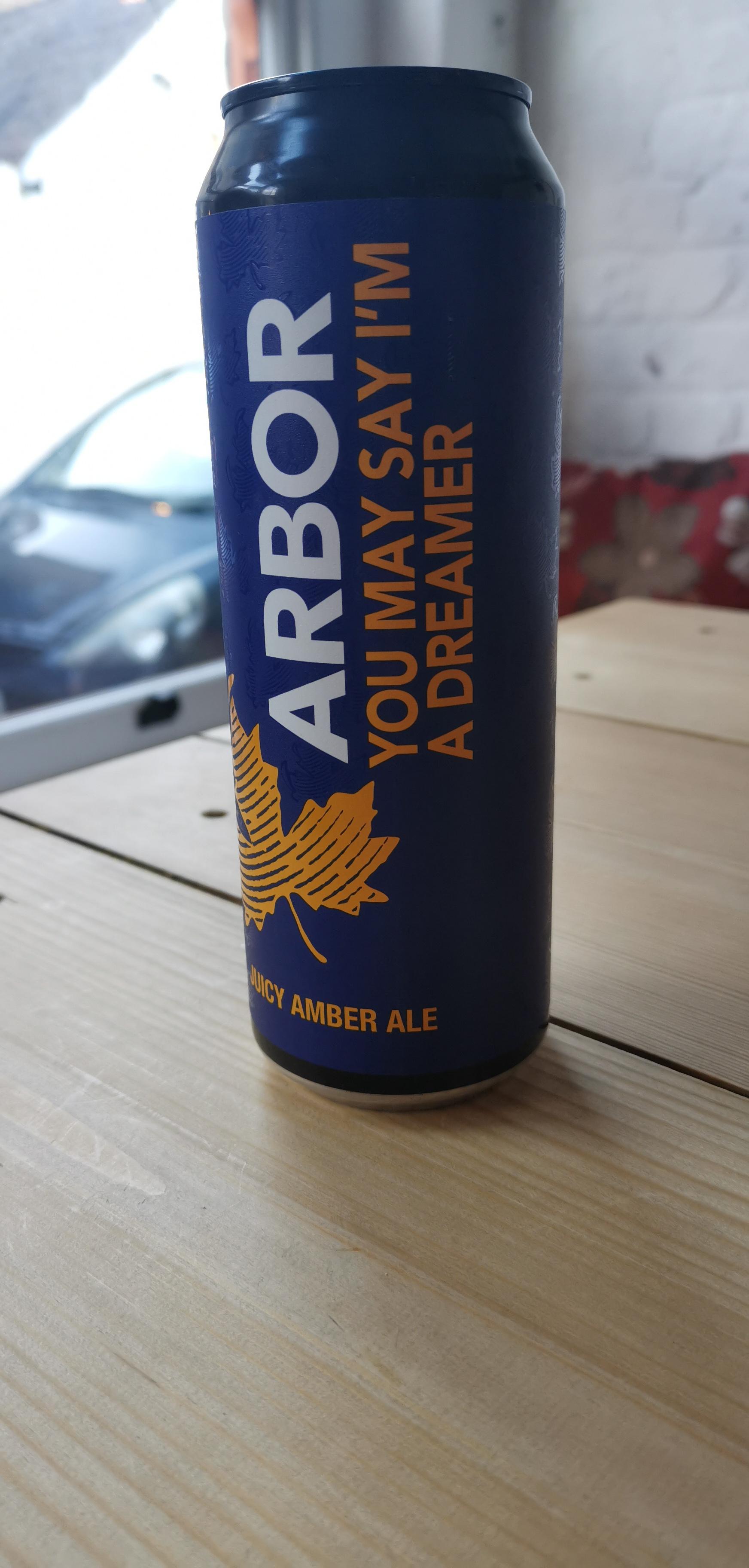 Arbor Ales - You May Say I'm A Dreamer (4.6% Juicy Amber Ale)