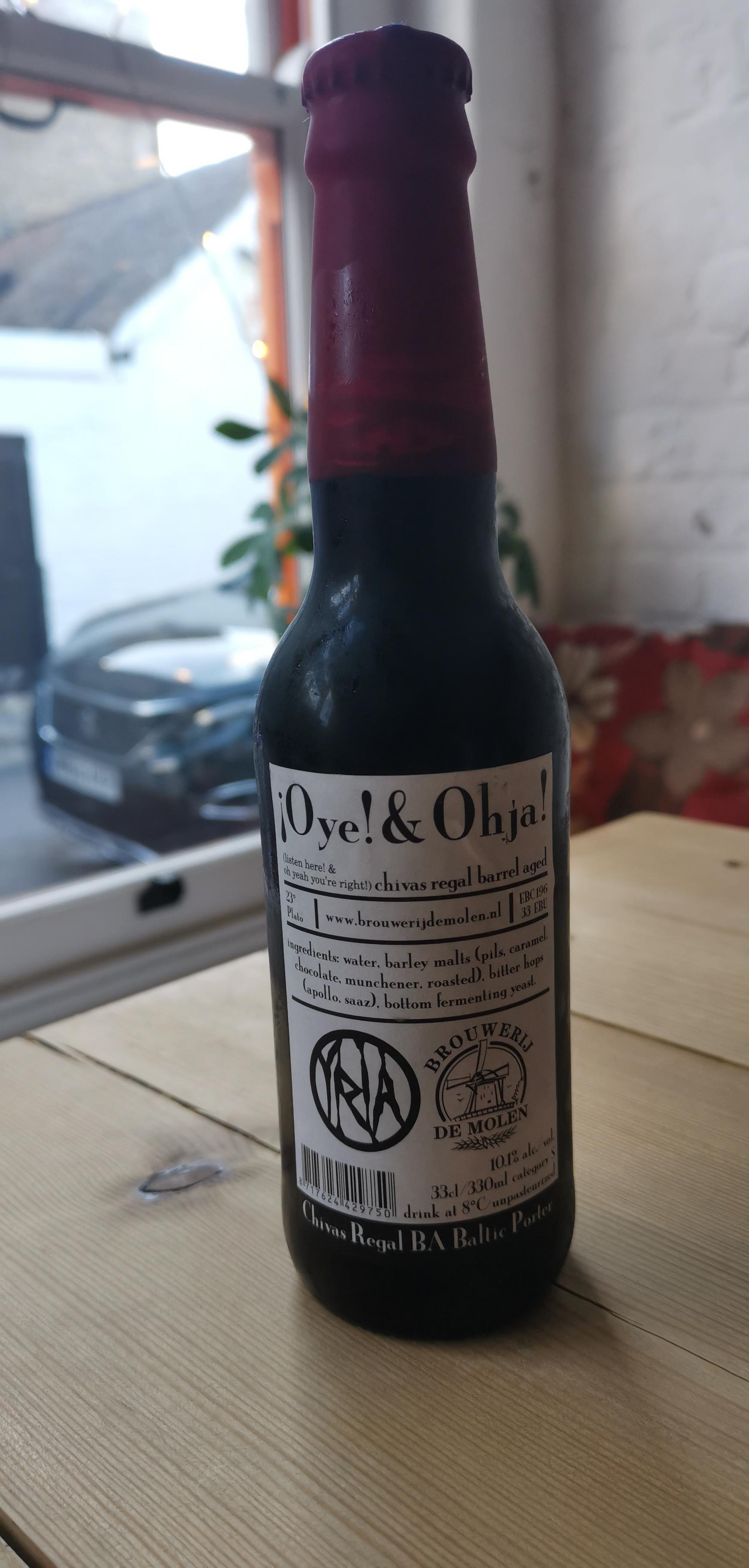 Brouwerij de Molen - Oye & Ohja (10.1% Barrel Aged Baltic Porter)