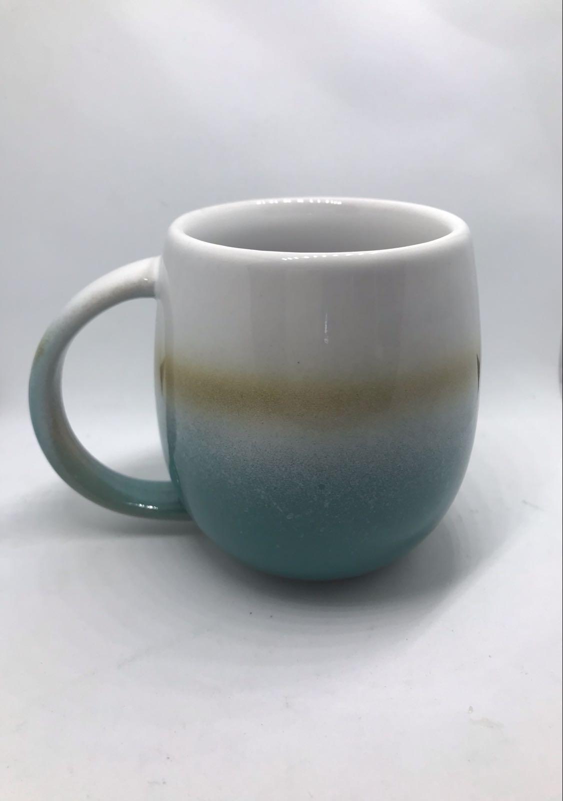 Ombre turquoise mug