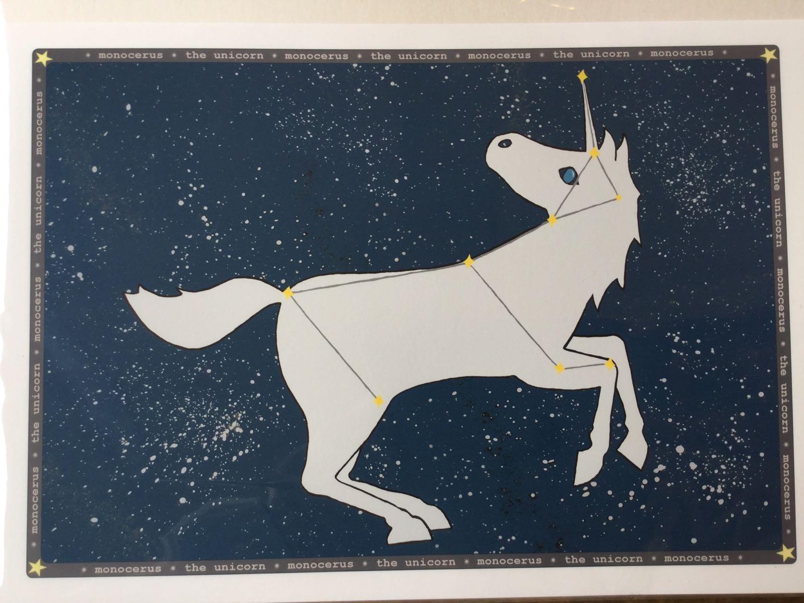 LLS A4 Starry night Unicorn print