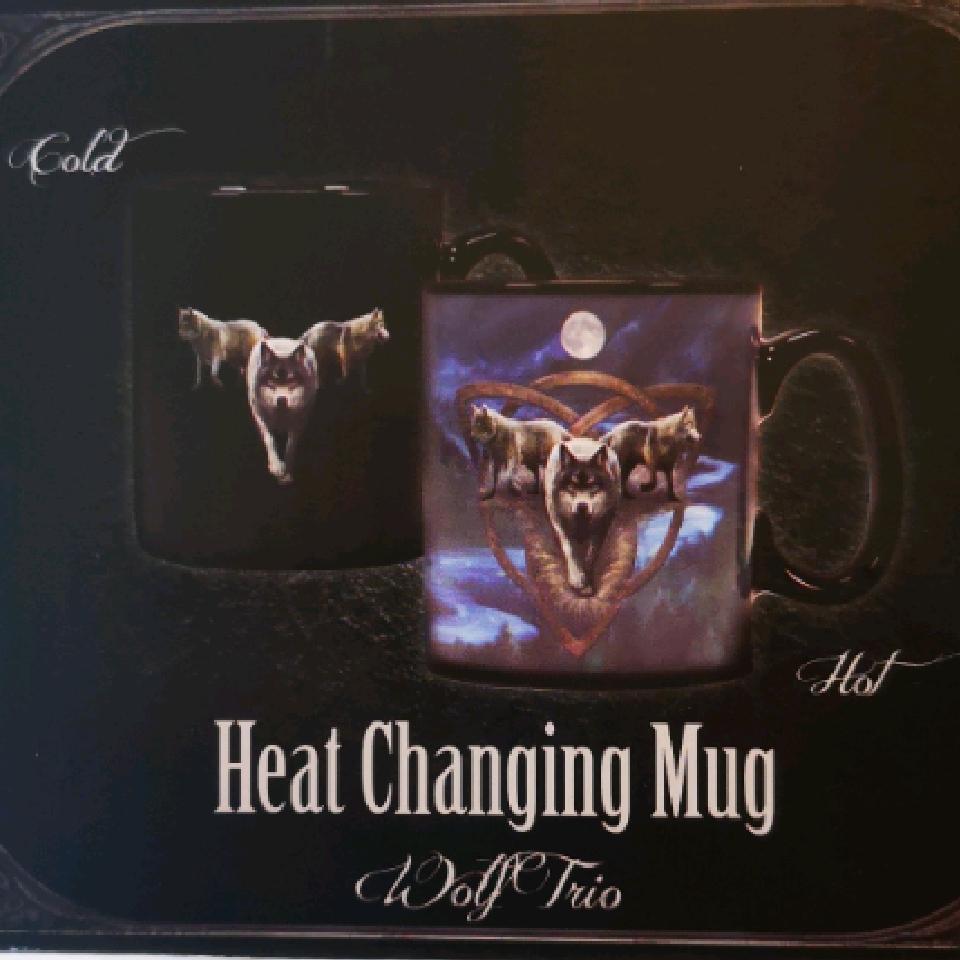 Anne Stokes Heat Changing Mug Wolf