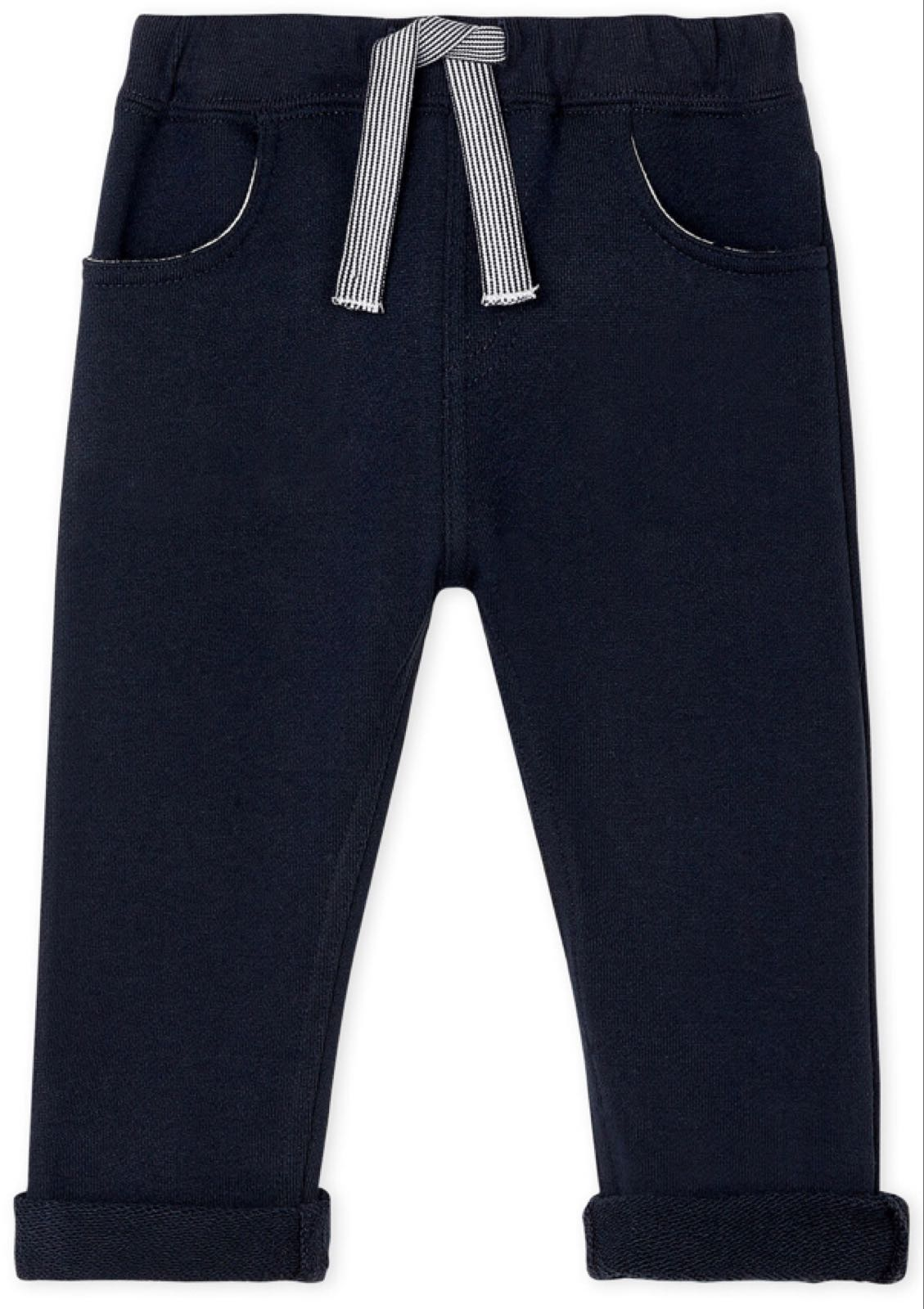 Petit Bateau Baby Boys' Plain Fleece Navy Trousers