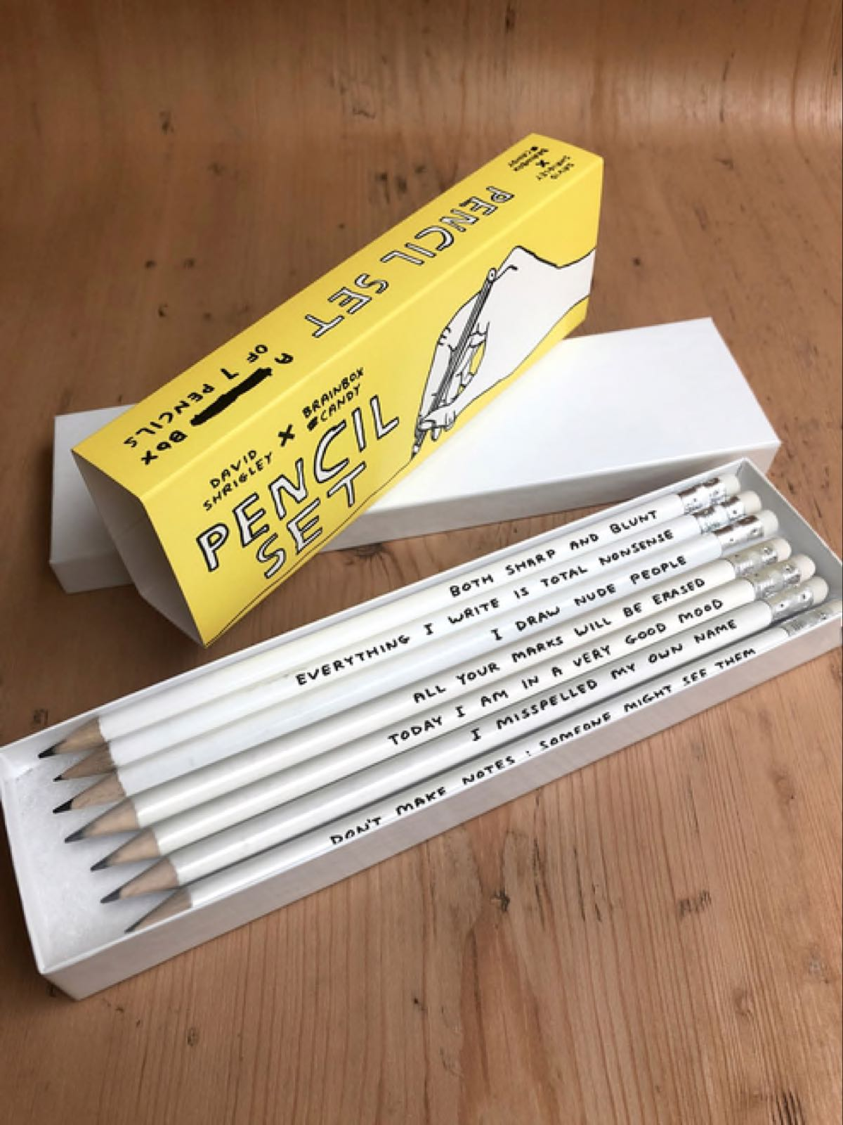 David Shrigley Pencil Box