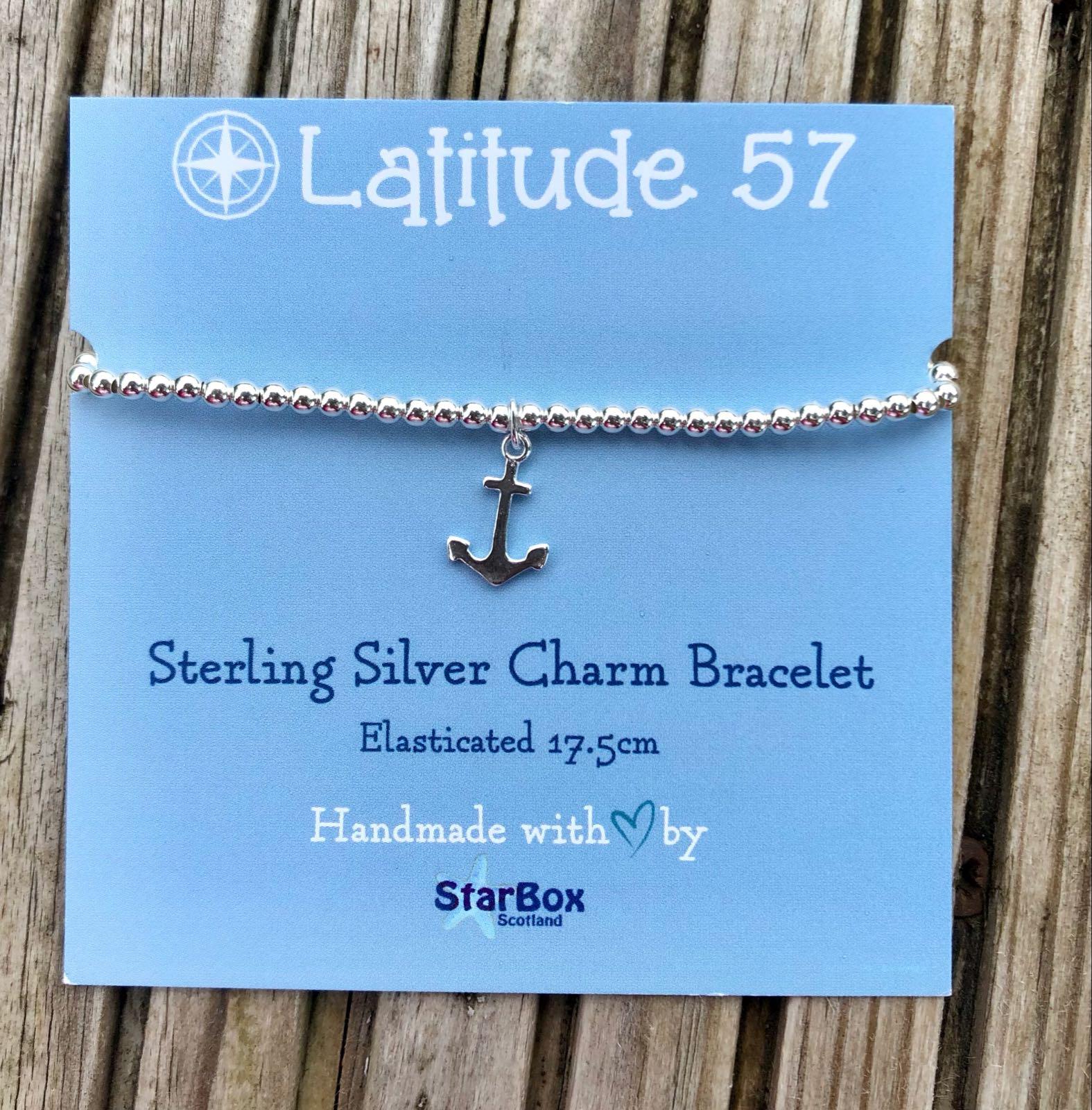 Sterling Silver Charm Bracelet: Anchor OFFER (£19.95)