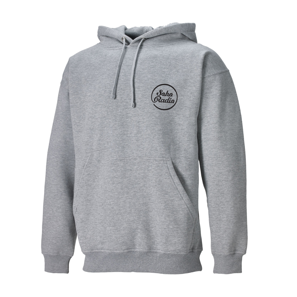 Soho Radio Grey Hoodie with Black Logo