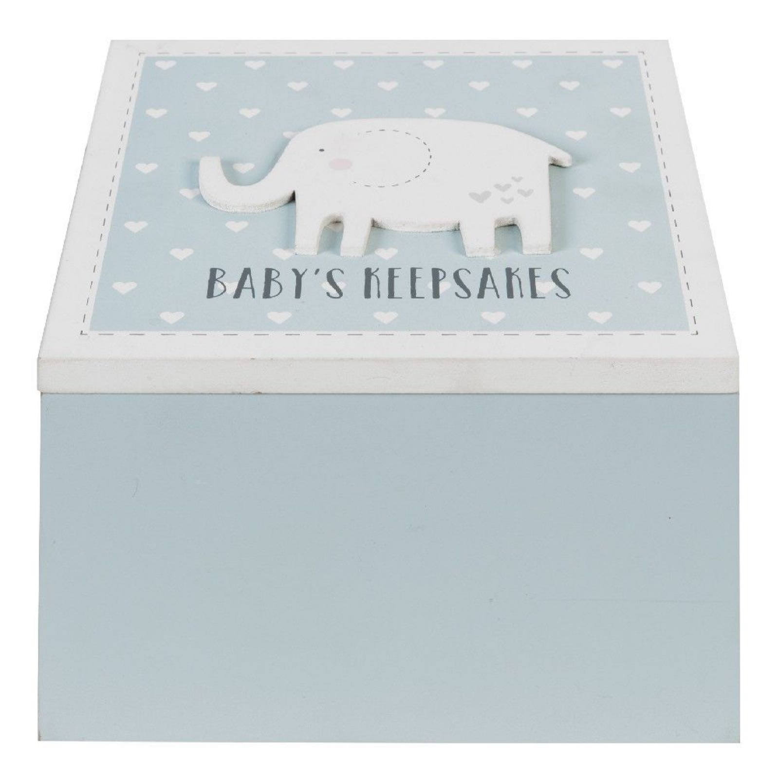 Elephant Blue Keepsake Box (can be engraved)